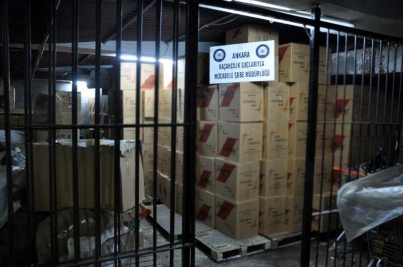 Ankara'da 5 milyon 200 bin adet 'makaron' ele geçirildi