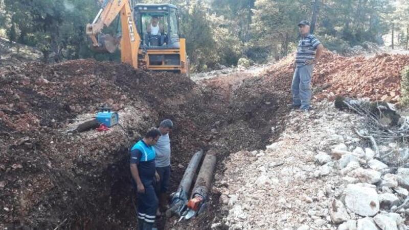 Sarıbelen-Bezirgan İçme Suyu Hattı onarıldı