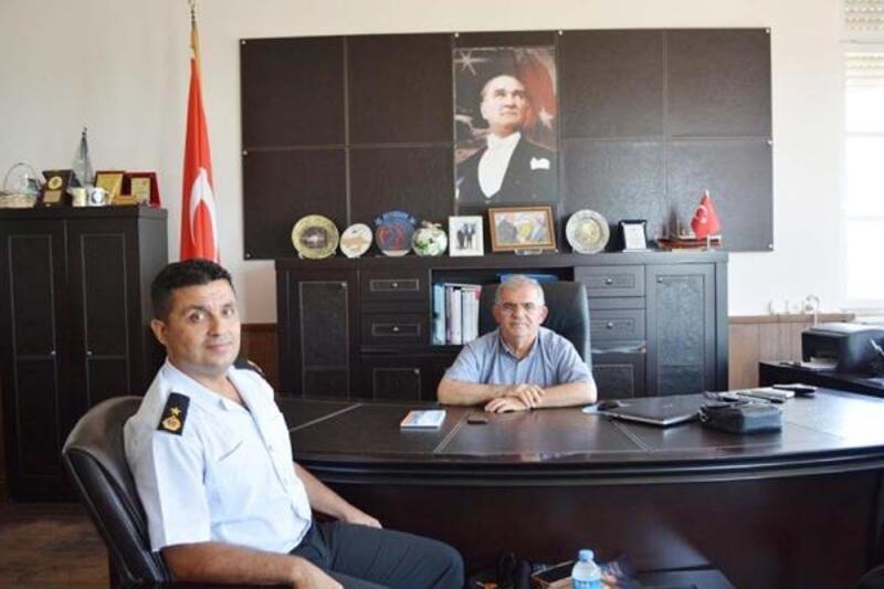 Jandarma Komutanı'ndan Kaymakam Çalık'a veda ziyareti