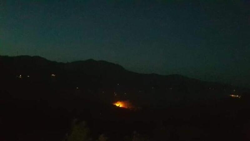 Gerger'de ormanlık alanda yangın