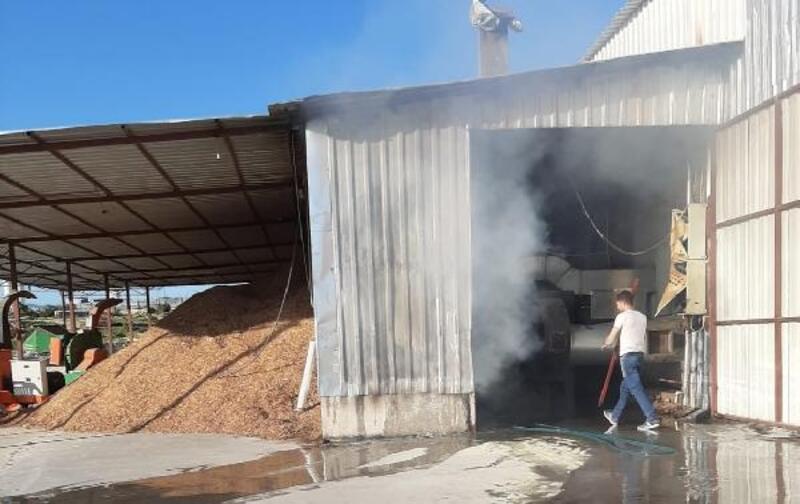 Defne yaprağı işleme fabrikasında 3 yılda ikinci yangın