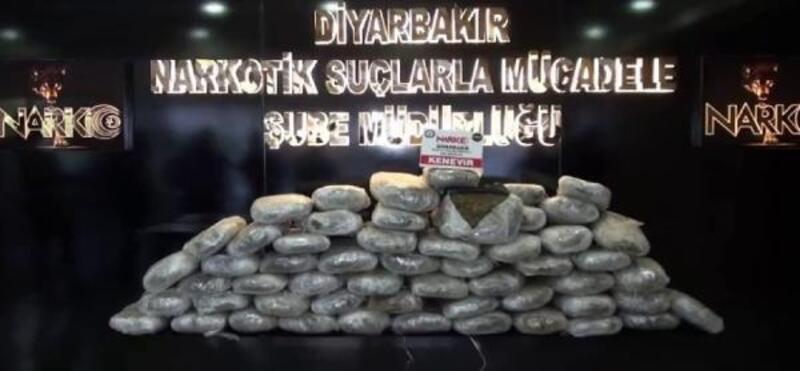 Diyarbakır'da 147 kilo 500 gram esrar ele geçirildi