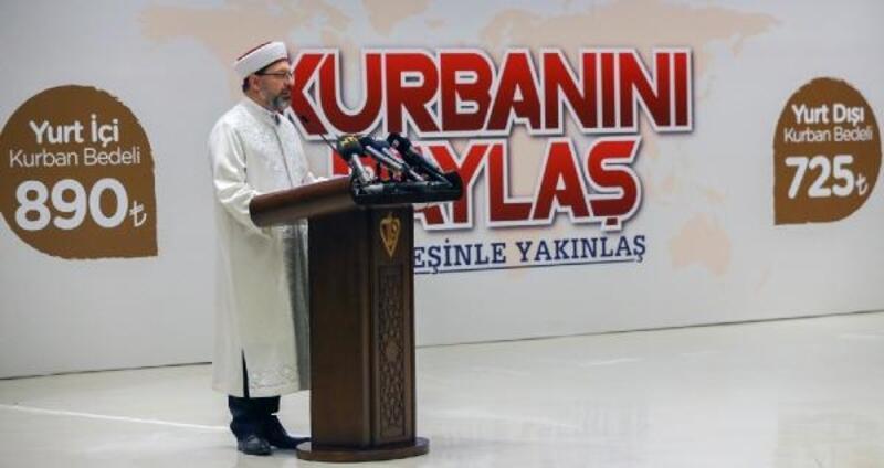 Diyanet İşleri Başkanı Erbaş, vekaletle kurban kesim bedelini açıkladı