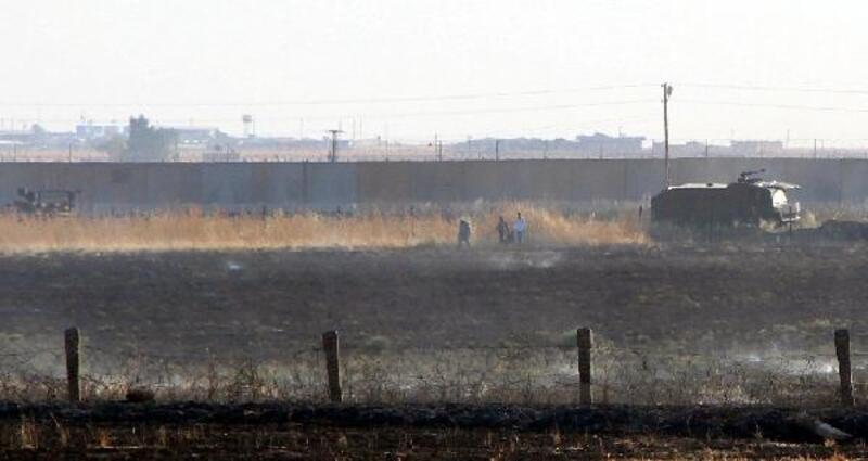 Mayınlı alanda çıkan yangına TOMA'lı müdahale