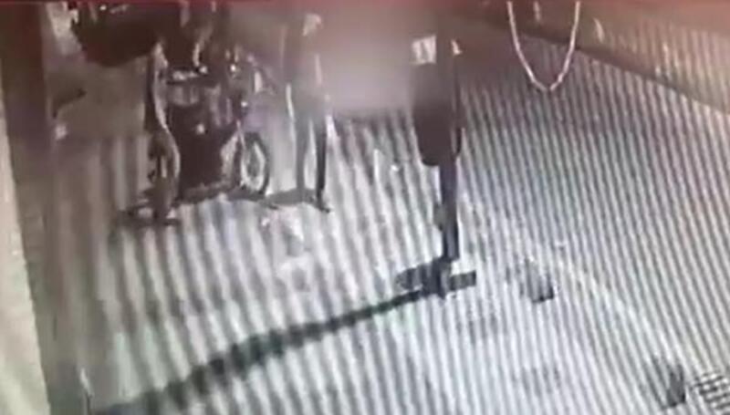 Malatya'da, motosiklet hırsızlığı kamerada