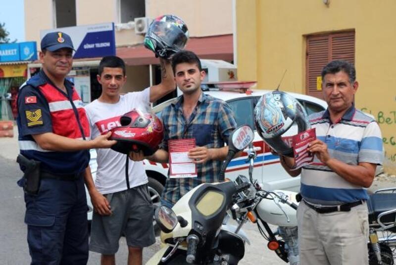 Kemer'de 'Hayatıma Kastım Yok, Kaskım Var' uygulaması