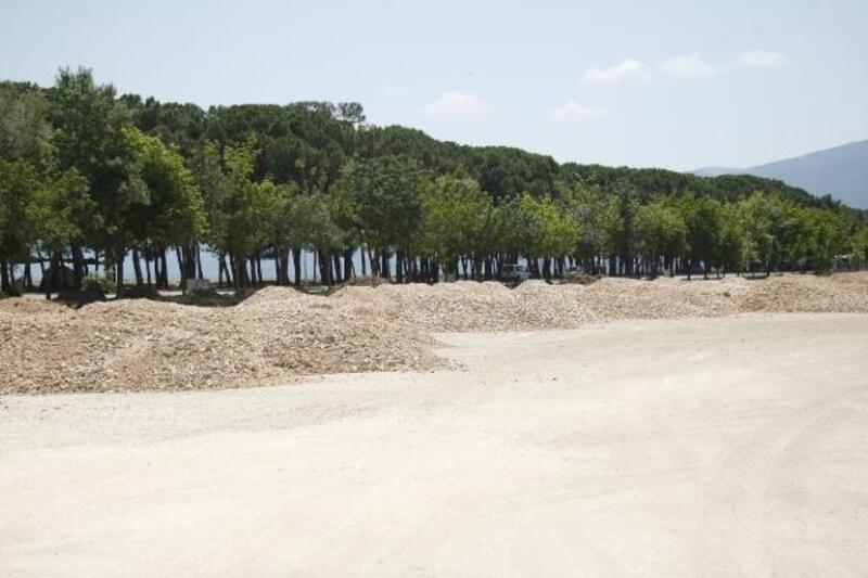Orhangazi'de göl sahiline yeni otopark