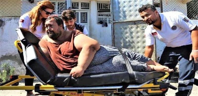 250 kiloluk obezite hastası, bakım yurduna götürüldü