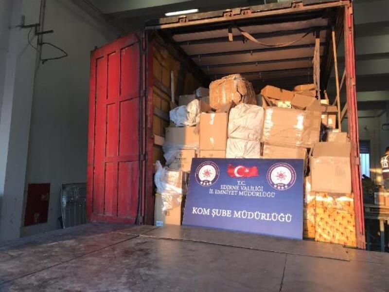 Kapıkule'de kaçakçılık operasyonu: 8 gözaltı