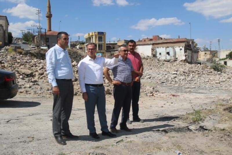 Hacılar'da kentsel dönüşüm yıkım çalışmaları tamamlandı