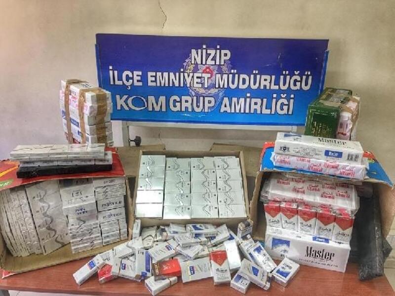 Nizip'te kaçak sigara operasyonu