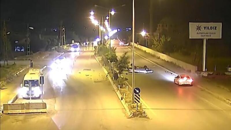 Muş'taki kazalar Mobese kameralarına yansıdı