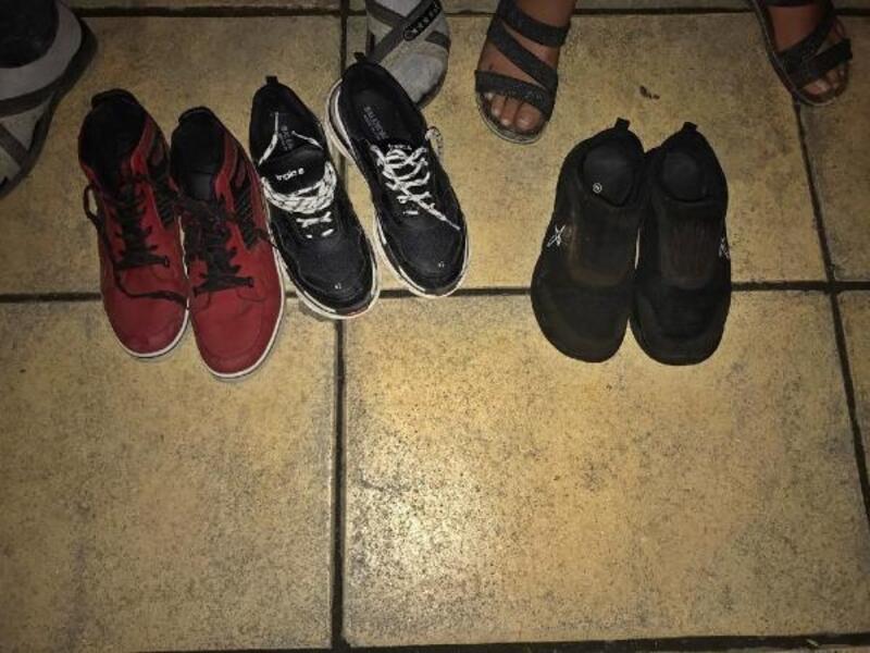 Samsun'da ayakkabı çalan 2 çocuk yakalandı