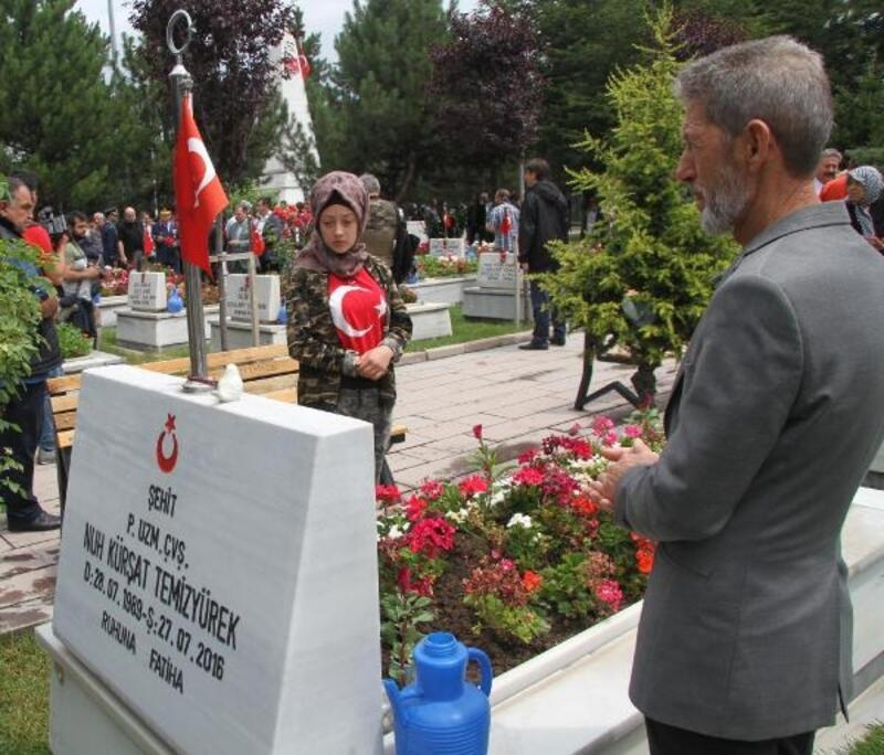 Kayseri'de şehitlik ziyaret edildi