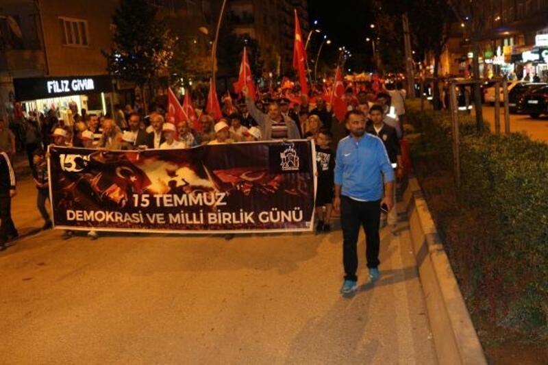 Çankırı'da'15 Temmuz' yürüyüşü