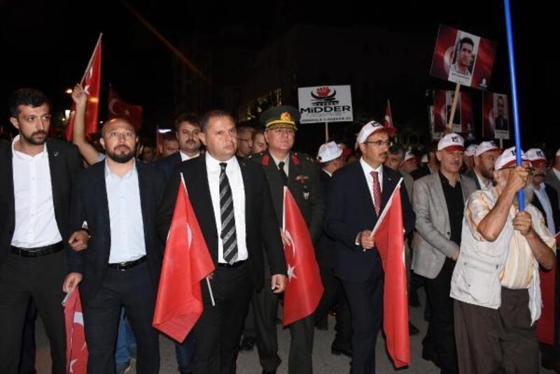 Kırıkkale'de 4 bin kişi 15 Temmuz şehitleri için yürüdü