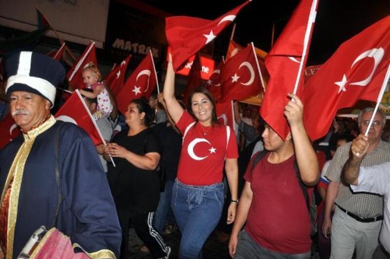 Osmaniye'de 15 Temmuz Demokrasi ve Milli Birlik yürüyüşü
