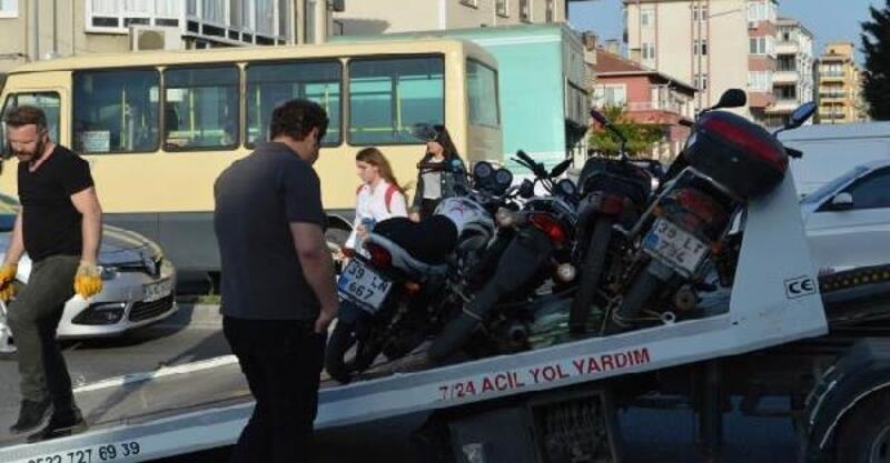 Lüleburgaz'da 55 motosiklet sürücüsüne idari para cezası kesildi