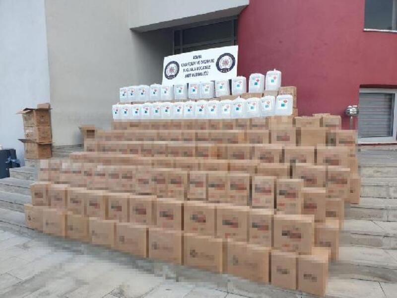 Depoda 2 bin 395 litre kaçak etil alkol ele geçirildi