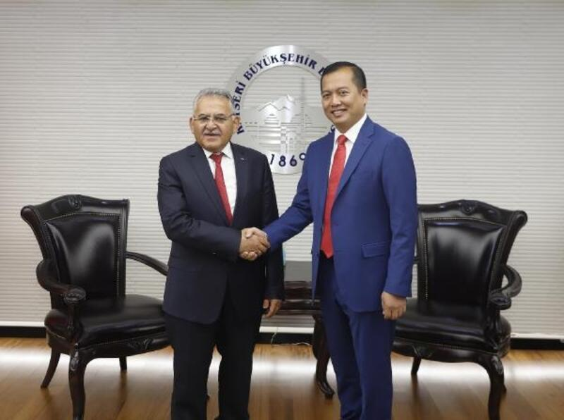 Endonezya Ankara Büyükelçisi Iqbal'den Başkan Büyükkılıç'a ziyaret