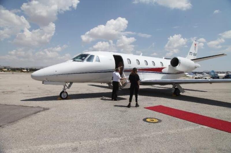 THK'nın VIP jeti yeniden hizmete girdi