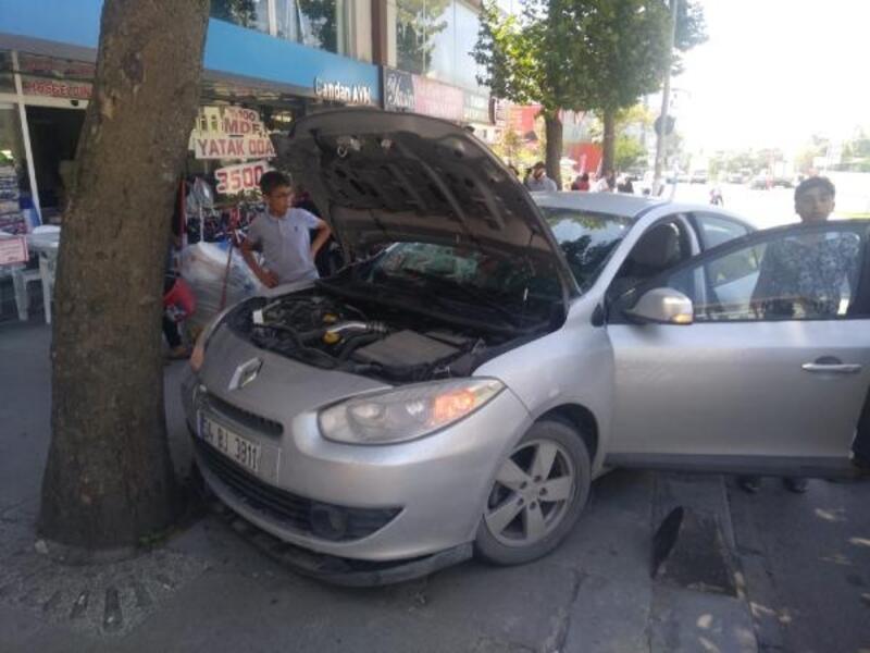 Arnavutköy'deki kaza güvenlik kamerasında