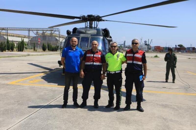 Helikopterle kask denetimi