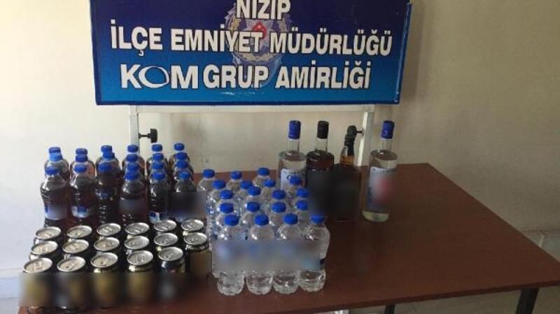 Gaziantep'te 67 şişe kaçak içki ele geçirildi
