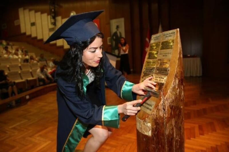 ÇÜ Güzel Sanatlar Fakültesi'nde mezuniyet sevinci
