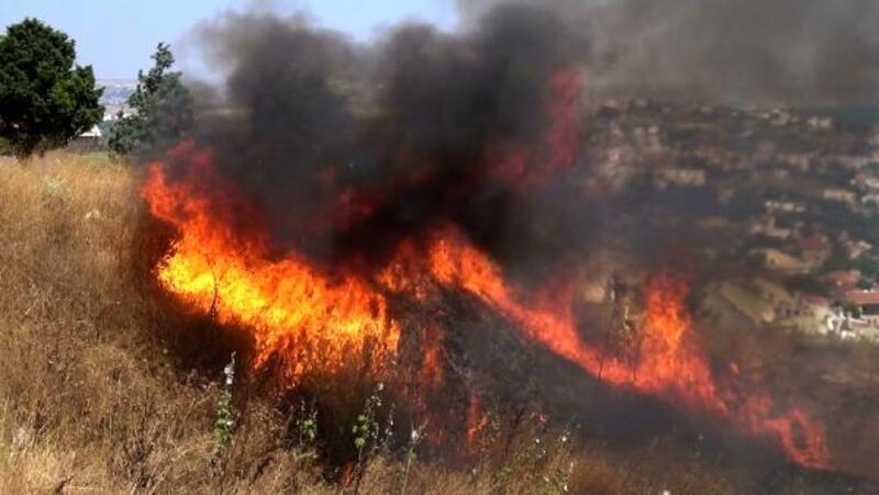 Silivri'de ot yangını güçlükle kontrol altına alındı