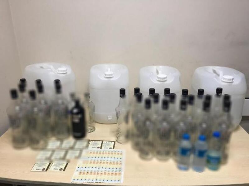 Eyüpsultan'da sahte içki operasyonu