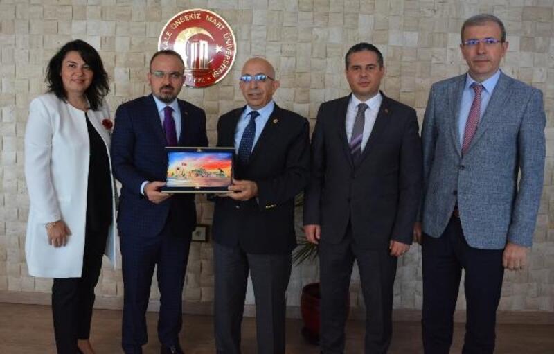 AK Parti Grup Başkan Vekili Turan, Rektör Murat'ı ziyaret etti