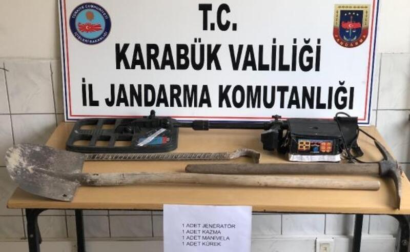 Eskipazar'da define arayan 2 kişi yakalandı