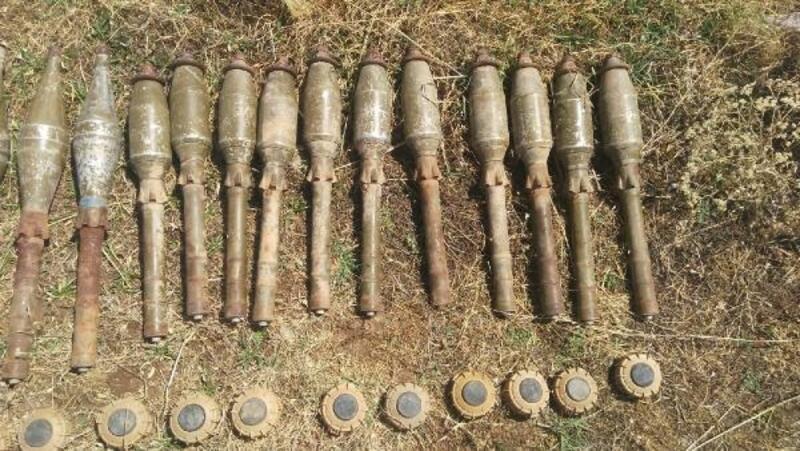 Herekol Dağı'nda PKK'nın mayın ve roketleri ele geçirildi