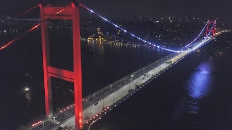 FSM'deki çalışmalar gece havadan görüntülendi