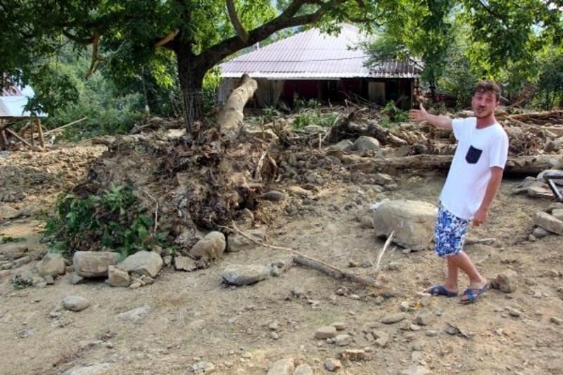 Akçakoca'nın Karatavuk köyü de selden etkilendi