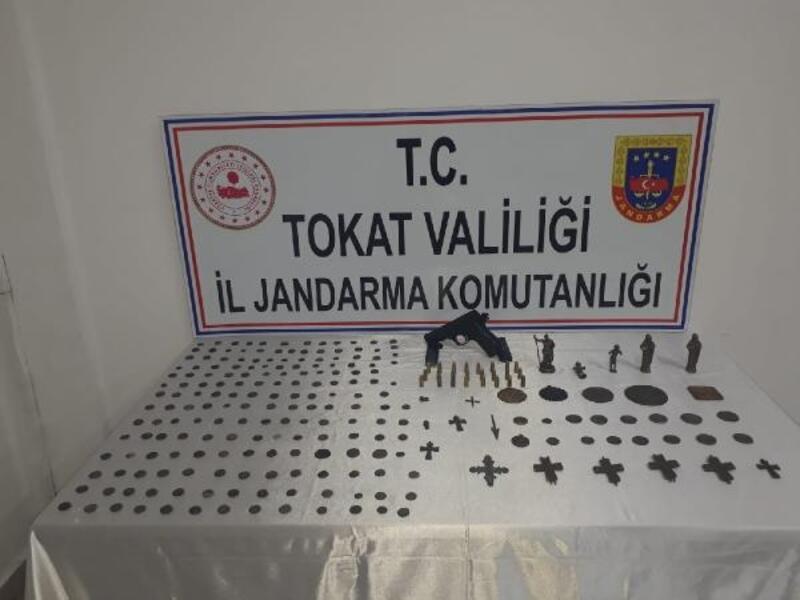 Tokat'ta 212 parça tarihi eser ele geçirildi, 1 gözaltı