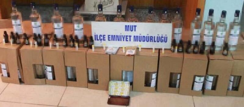 Mersin'de etil alkol baskını