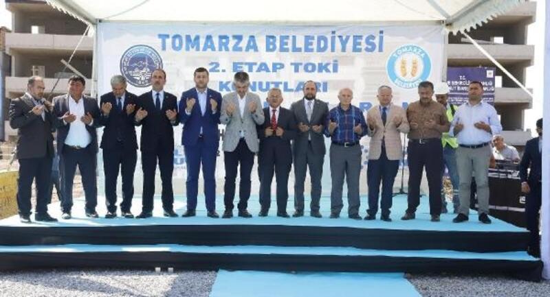 Tomarza'da TOKİ konutlarının temeli atıldı