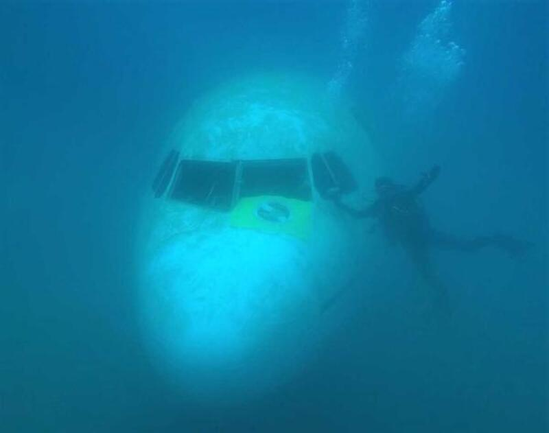 Saros Körfezi'nde batırılan uçağa dalışlar sürüyor