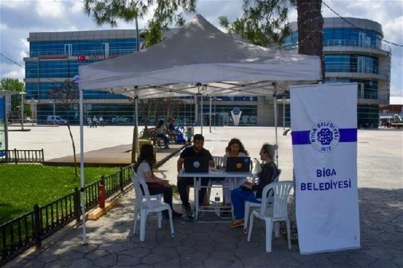 Biga Belediyesi'nden, öğrencilere ücretsiz YKS tercih hizmeti