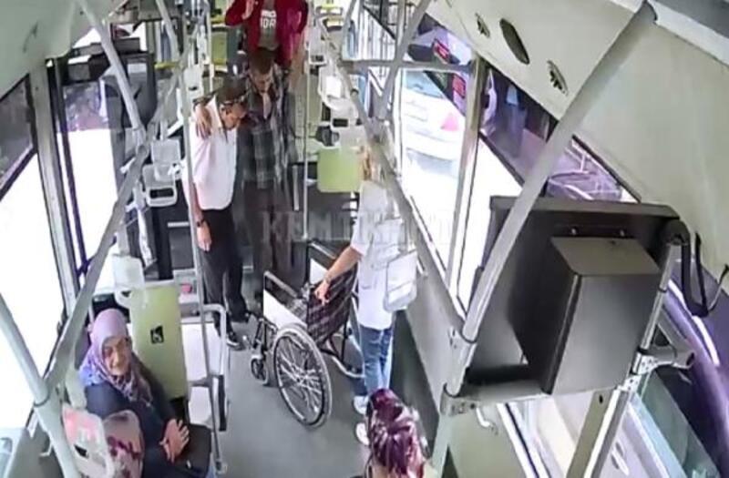 Otobüste kalp krizi geçiren yolcu hastaneye yetiştirildi