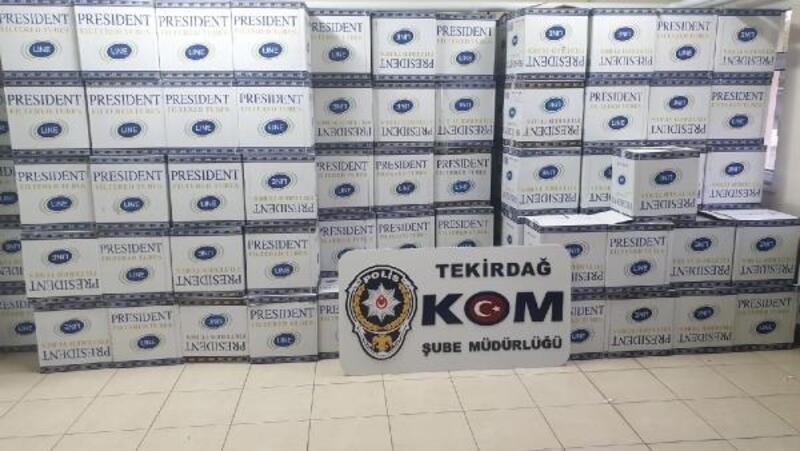 Çorlu'da kaçak sigara operasyonu: 4 gözaltı