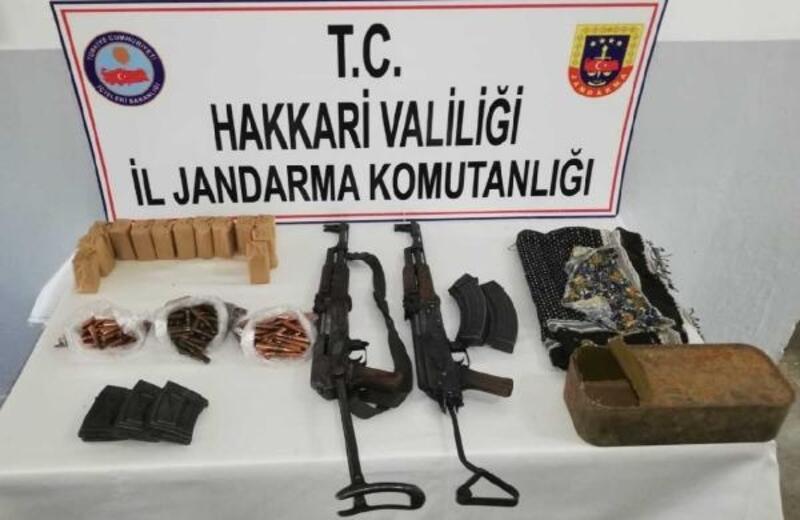 Şemdinli kırsalında PKK'nın silah ve mühimmatı ele geçirildi