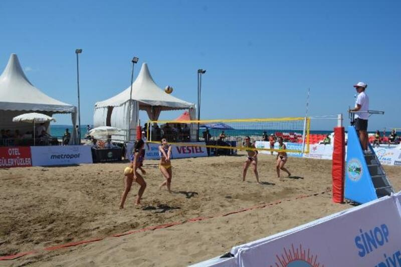 Sinop'ta TVF Plaj Ligi Türkiye Şampiyonası heyecanı