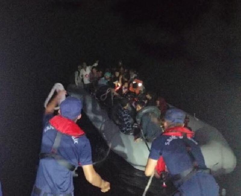Didim'de 58 kaçak göçmen yakalandı
