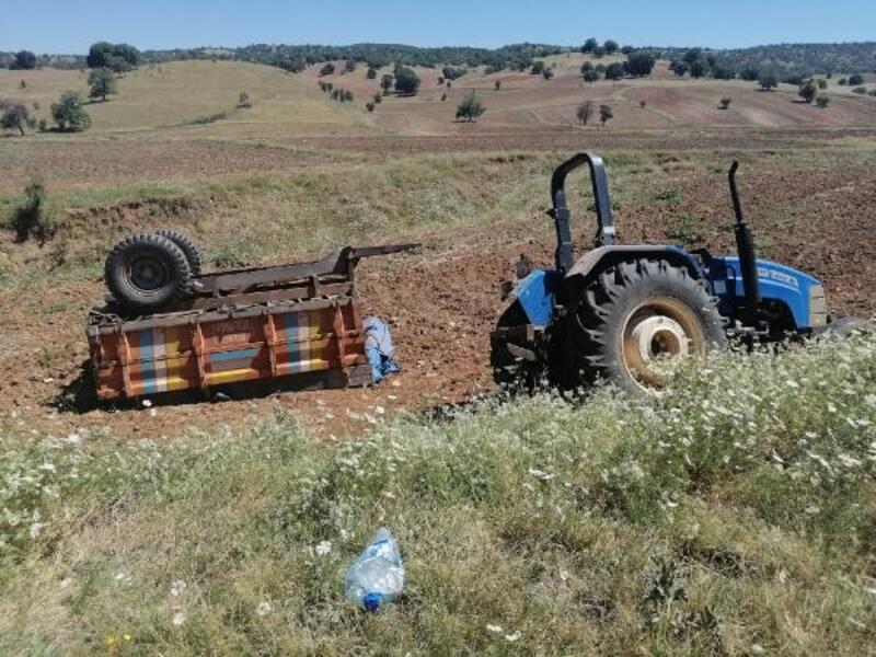 Traktör sürücüsü kalp krizinden öldü