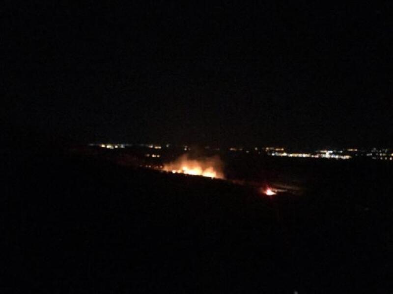 Tarihi manastırın bahçesindeki yangında ağaçlar kül oldu