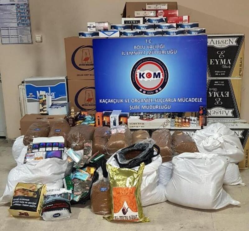 Bolu'da, kaçak sigara ve tütün operasyonu