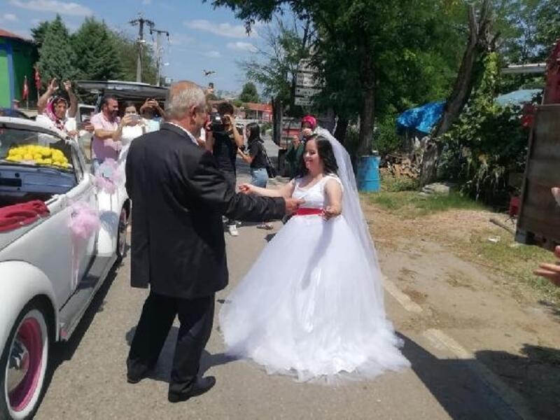 Down sendromlu Şehima'nın düğün hayali gerçek oldu